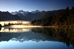 Reflective Mountain, Matheson Lake Royalty Free Stock Images