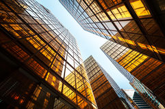 Reflective office building exterior, Hong Kong Royalty Free Stock Photo
