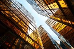 Reflective office building exterior, Hong Kong royalty free stock photo