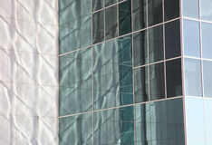 Reflective office building facade. In Madrid, Spain Stock Photo