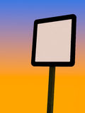 Reflective Pole Sign Stock Photography