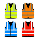 Reflective road industry safety vest. Illustration for the web Stock Photography
