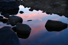 Reflective Rocks Royalty Free Stock Photos