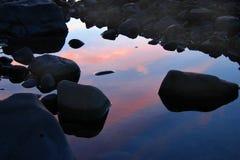 Reflective Rocks Royalty Free Stock Photos