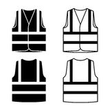Reflective safety vest black white. Illustration for the web Stock Images