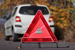 Reflective triangle Royalty Free Stock Images