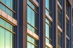 Reflective twilight on clean windows royalty free stock photos