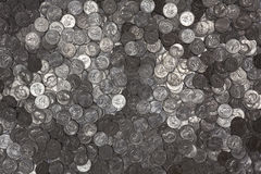 Reflective US Quarters Background Royalty Free Stock Images