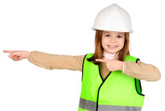 Reflective vest. Little girl with reflective vest Stock Photos