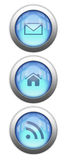 Reflective Web Buttons Stock Photos