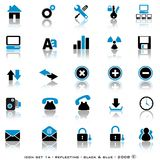 Reflective Web Buttons Stock Images