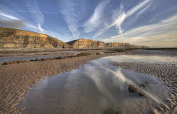 Reflective Welsh Coast. Reflections at the Welsh Coast, Wales Royalty Free Stock Images