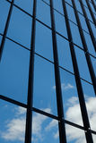 Reflective windows and blue sky Royalty Free Stock Images