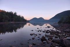 reflectons рассвета acadia стоковое изображение