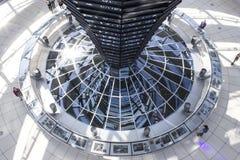 Reflector central de la luz natural de Reichstag Imagen de archivo libre de regalías