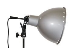 Reflector de la lámpara en el lado blanco Foto de archivo libre de regalías