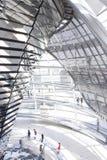 Reflector de Reichstag y pantalla de sol centrales Foto de archivo libre de regalías