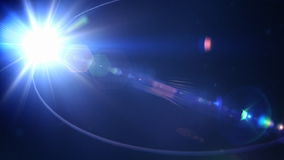 Reflector flickering with dust particles, loop, stock footage stock video footage