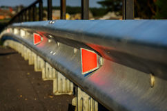 Reflector of a guardrail. Royalty Free Stock Photography
