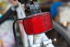 Reflector lamp. A dirty reflector lamp of a bike Royalty Free Stock Images