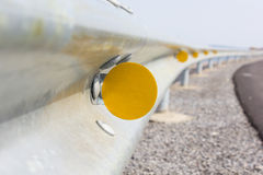 Reflector. On a road guard Stock Photography