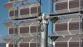 Reflector of solar power station. Close up stock video footage