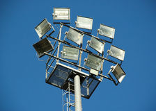 Reflectors. In a soccer field in Italy - detail Stock Images