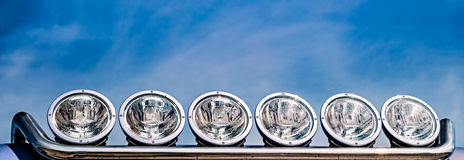 Reflectors on the sky Royalty Free Stock Photography