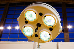 Reflectors for surgery. Note shallow depth of field Royalty Free Stock Photography