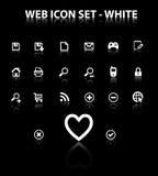 Refleje el conjunto del icono del Web Fotos de archivo libres de regalías