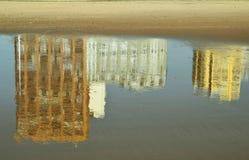 Reflejo del arena de mar Fotos de archivo