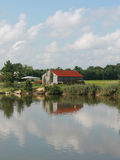 Reflejo en la granja Foto de archivo libre de regalías