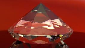 Reflejos del diamante con puntos culminantes rojos y blancos Fondo rojo metrajes