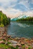refleksja nad jeziorem Obrazy Royalty Free