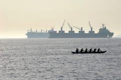 refleksje łodzi Obrazy Stock