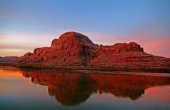 refleksje rzeki colorado Obrazy Royalty Free