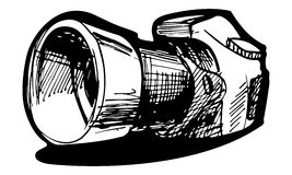 Refleksowa kamera ilustracja wektor