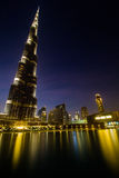 Reflektera på liv, i Dubai Arkivbilder