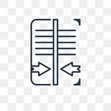 Reflektera vektorsymbolen som isoleras på genomskinlig bakgrund, linjärt R royaltyfri illustrationer