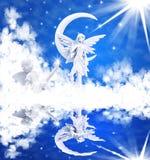 Reflekterade änglar Arkivfoton
