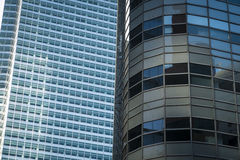 Reflekterande glass skyskrapor, Manhattan, New York City Arkivbild