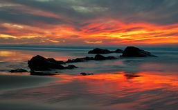 Reflekterande hav Fotografering för Bildbyråer