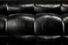 Reflekterande lädersoffa med den mini- etappen Fotografering för Bildbyråer