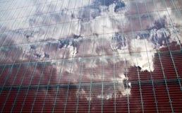 reflekterande sky Arkivbilder