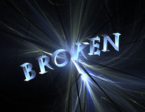 reflekterat broken Arkivbilder