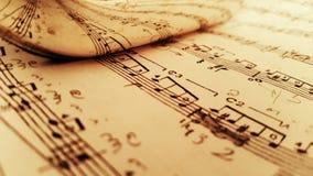 Reflekterat musikark Arkivbild