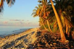 reflekterat skyvatten för strand blå klar gryning Royaltyfri Fotografi