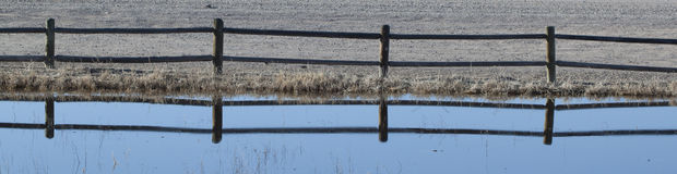 reflekterat staket Royaltyfria Bilder