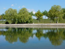 reflekterat vatten Arkivbilder