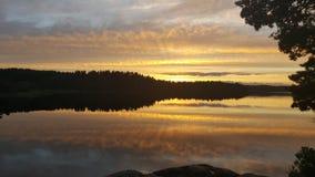 Reflektierender See, Muskan stockfotos